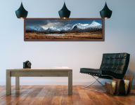 Rannoch Moor Winter Panorama - Walnut floater frame with acrylic glazing on Wall