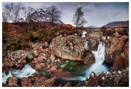 Coupall Falls Glencoe - Scotland Print