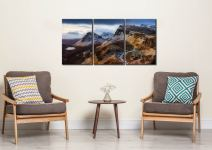 Sunshine and Snow on the Quiraing - 3 Panel Canvas on Wall