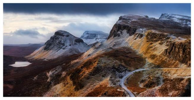 Sunshine and Snow on the Quiraing - Isle of Skye Print