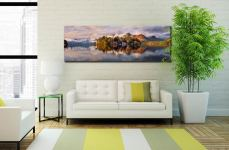 Rising Mists Derwent Water Canvas Print in room