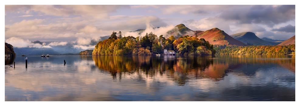 Rising Mists Derwent Water - Print