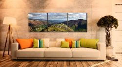 Pike Howe in Great Langdale - 3 Panel Canvas on Wall