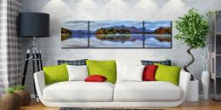 Derwent Water Tranquility - Lake District 3 Panel Canvas on wall