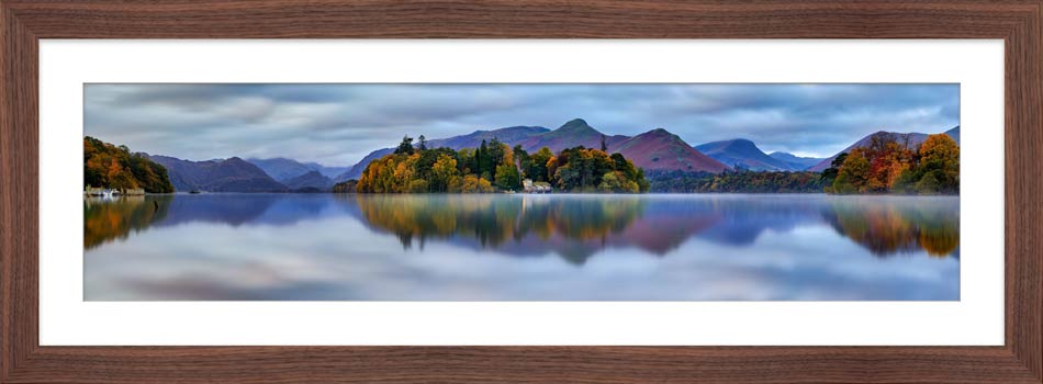 Derwent Water Tranquility - Framed Print with Mount