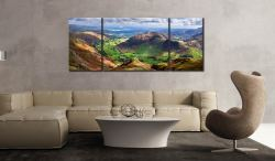 The Langdale Valleys - Lake District 3 panel Canvas on wall