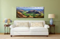 The Langdale Valleys - Lake District Canvas on wall