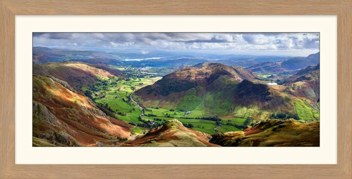 The Langdale Valleys - Framed Print
