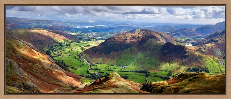 The Langdale Valleys - Modern Print