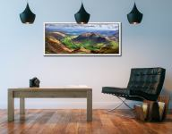 The Langdale Valleys - Lake District White Maple Frame on wall