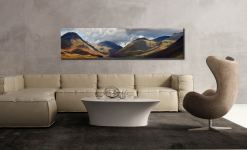 Sunlight on Wasdale Mountains - Lake District Canvas on Wall