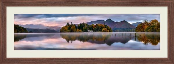 Derwent Isle Dawn Light - Framed Print with Mount