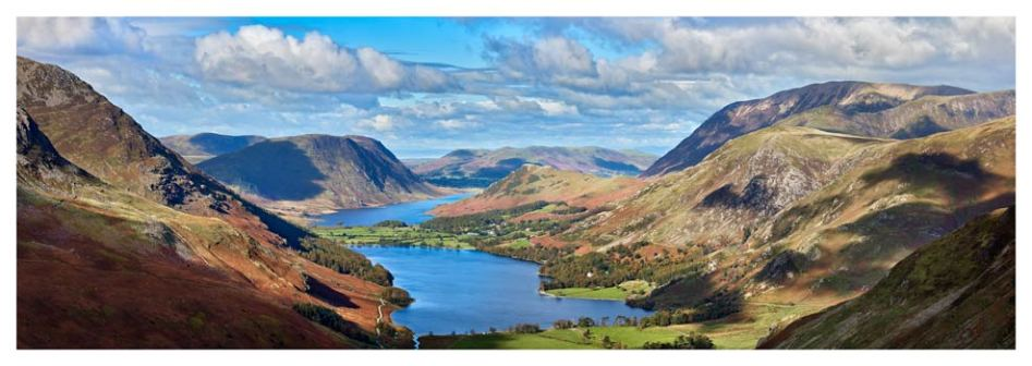 Buttermere Valley from Haystacks - Lake District Print