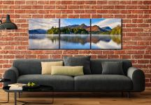 Derwent Water Serenity - 3 Panel Canvas on Wall