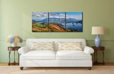 Catbells to Skiddaw - 3 Panel Canvas on Wall