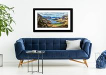 Hanging Rock Buttermere Valley - Framed Print with Mount on Wall
