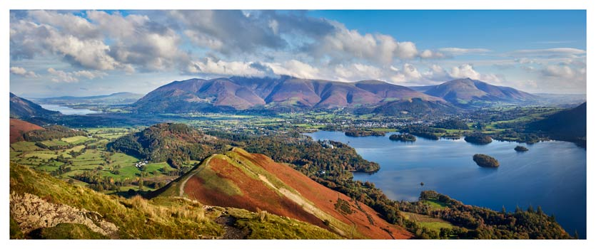 Catbells to Skiddaw - Lake District Print