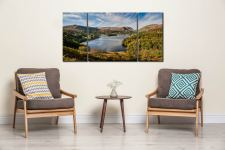 Early Autumn Grasmere - 3 Panel Wide Centre Canvas on Wall