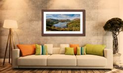 Early Autumn Grasmere - Framed Print with Mount on Wall