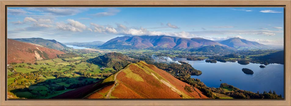 Newlands Cat Bells Derwent Water - Modern Print