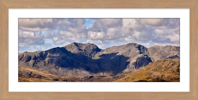 Sca Fell From Coniston Fell - Framed Print with Mount