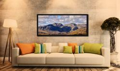 Sca Fell viewed from the path to Swirl How - Black oak floater frame with acrylic glazing on Wall