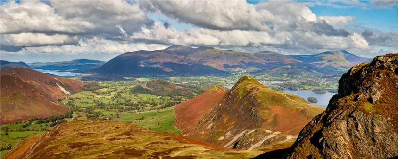 Cat Bells form Maiden Moor - Lake District Canvas