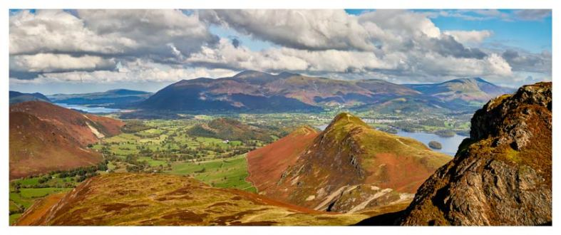 Cat Bells form Maiden Moor - Lake District Print