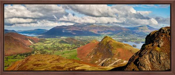 Cat Bells and the Newlands Valley viewed from the flanks of Maiden Moor