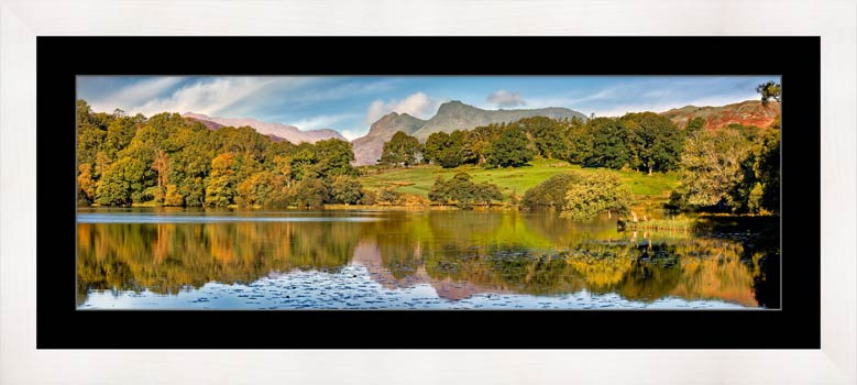Loughrigg Tarn in Late Summer - Framed Print with Mount