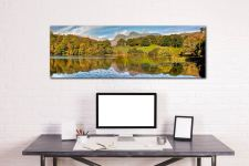 A lovely late Summer afternoon at Loughrigg Tarn - Print Aluminium Backing With Acrylic Glazing on Wall