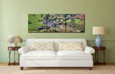 Buttermere Village - 3 Panel Canvas on Wall