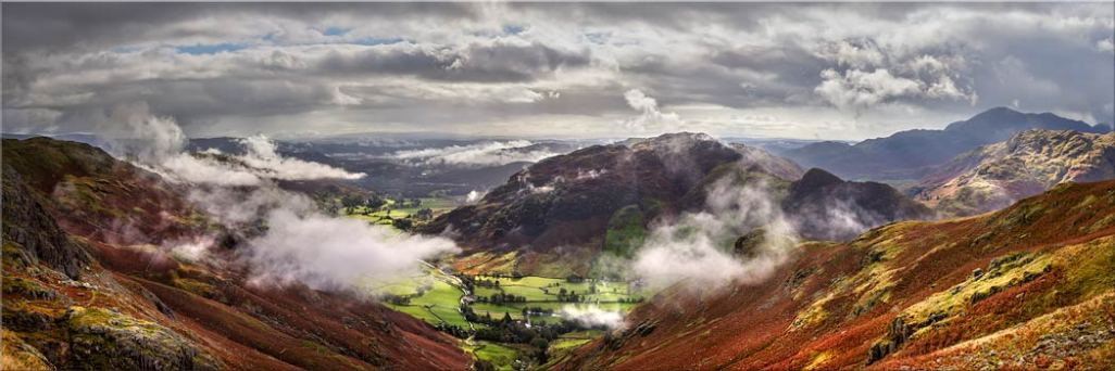 Great Langdale and Lingmoor Fell - Canvas Print