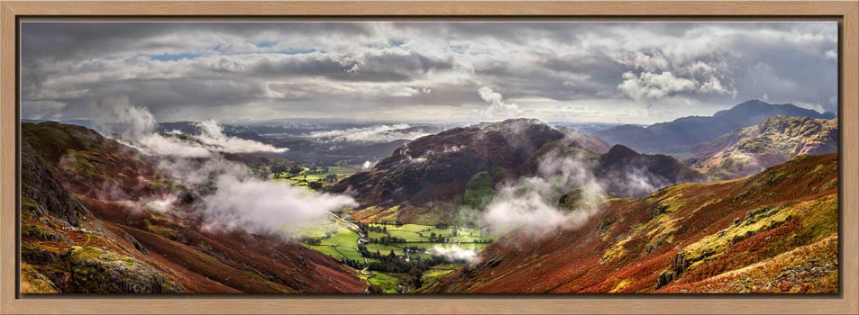 Great Langdale and Lingmoor Fell - Modern Print