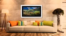 Trees of Borrowdale - Framed Print with Mount on Wall