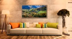 Trees of Borrowdale - Oak floater frame with acrylic glazing on Wall
