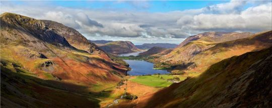 Sunshine on the Buttermere Valley - Lake District Canvas