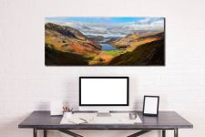 Sunshine on the Buttermere Valley - Canvas Print on Wall