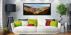 Sunshine on the Buttermere Valley - Black oak floater frame with acrylic glazing on Wall
