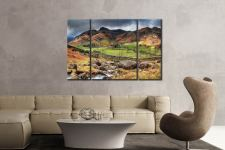 Great Landgale from Cumbrian Way  - A 3 panel wide centre canvas on Wall