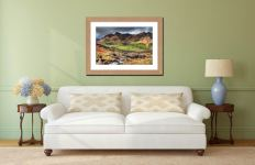 Great Langdale from Cumbrian Way - Framed Print with Mount on Wall