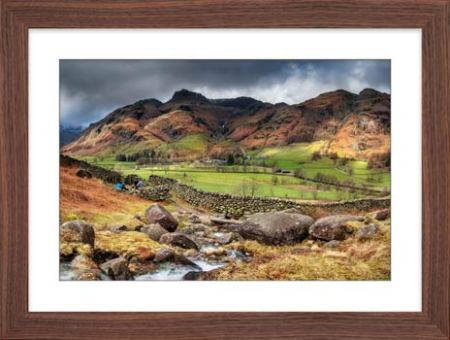 Great Langdale from Cumbrian Way - Framed Print