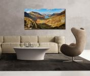 The Buttermere Valley Autumn Sunshine - Print Aluminium Backing With Acrylic Glazing on Wall