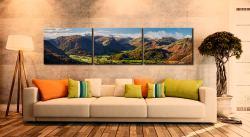 Beautiful Borrowdale Panorama - 3 Panel Canvas on Wall
