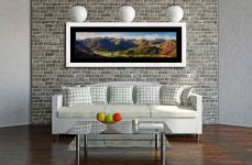 Beautiful Borrowdale Panorama - Framed Print with Mount on Wall