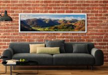 Beautiful Borrowdale Panorama - White Maple floater frame with acrylic glazing on Wall