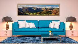 Beautiful Borrowdale Panorama - Oak floater frame with acrylic glazing on Wall
