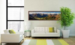 Beautiful Borrowdale Panorama - Walnut floater frame with acrylic glazing on Wall
