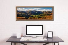 Early autumn in the beautiful Borrowdale Valley - Oak floater frame with acrylic glazing on Wall