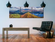 Cat Bells Panorama - 3 Panel Canvas on Wall